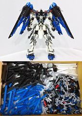 LEGO Freedom Gundam ZGMF-X10A *Backpack (demon14082001) Tags: lego freedom gundam mobile suit seed moc creation zgmfx10a perfect grade robot mecha destiny nền trắng ngoài trời