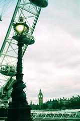 Southbank (oh it's amanda) Tags: ricohff1 london londonengland 35mm xpro crossprocessed fujisensia400 expiredfilm expirationdateunknown londoneye riverthames bigben southbank
