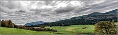 Panoramablick nach Oberaschau und Höllengebirge