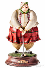 Golf (Dario Lo Presti) Tags: american kitsch unhealthy ball big casting cutout doll eating fat figure fun game golf goofy grotesque gypsum health hilarious idea isolated kilt knickknack male man nutrition obese obesity object old ornament player scotland scottish sculpture statue statuette symbol vintage whiteamericankitschunhealthyballbigcastingcutoutdolleatingfatfigurefungamegolfgoofygrotesquegypsumhealthhilariousideaisolatedkiltknickknackmalemannutritionobeseobesityobjectoldornamentplayerscotlandscottishsculpturesta