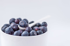 blueberries (Vanili11) Tags: blueberries white background minimal macro desserts