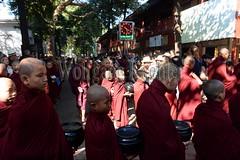 30099737 (wolfgangkaehler) Tags: 2017 asia asian southeastasia myanmar burma burmese mandalay mahagandayonmonastery mahagandayonmonastary people person monks buddhist buddhistmonasteries buddhistmonastery buddhistmonk buddhistmonks almsceremony almsbowls meal