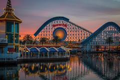 Paradise Pier Sunset 2_8_2017 (Domtabon) Tags: adventure california californiascreamin dca dl dlr disney disneyland disneylandresort paradisebay paradisepier mousewait