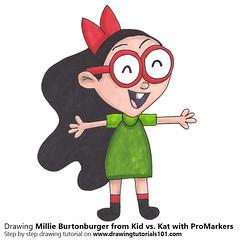 Millie Burtonburger from Kid vs. Kat with ProMarkers (drawingtutorials101.com) Tags: millie burtonburger coops sister kid vs kat cartoons tv studio b promarkers alcohol markers promarker color coloring draw drawing drawings how