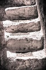 White Steps (Cirrusgazer) Tags: blackandwhite sunlight white abstract texture shadows steps greece crete worn weathered loutro sonya7r fe55mmf18za