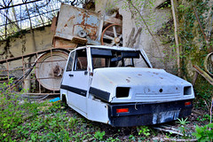casalini sulky SP50 (riccardo nassisi) Tags: auto abandoned car pc rust ruins rusty scrapyard wreck scrap piacenza quarry wrecked cava ruggine relitto rottame travo epave abbandonata rottami