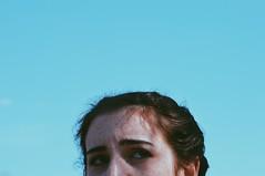 inquiry (NaomiTheCreator) Tags: blue girls friends portrait sky girl clouds hair outdoors eyes friend bluesky biking freckles inquiry brownhair portraitofgirls