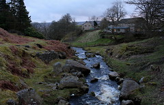 Idyllic (music_man800) Tags: uk bridge blue winter light house holiday cold tree home nature water rain weather rock night clouds creek river dark landscape lights evening march countryside spring stream view natural beck outdoor dusk path walk yorkshire united cottage kingdom hike hour riverbed british mountainside idyllic hebden dales pennines nightfall weir dipper ghyll