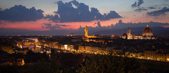 Sunset over Florenece, Italy (andyk11) Tags: bridge night lights sanlorenzo duomo pontevecchio piazzalmichelangelo