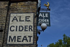 2015-05-17: Ale Cider Meat (psyxjaw) Tags: london sign wall death town pub arms walk painted ale cider meat southampton londonist kentish londonistdeathwalk