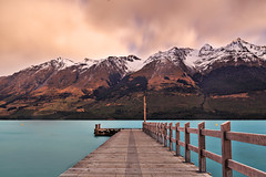 Glenorchy Jetty (Matthew Post) Tags: longexposure newzealand lake snow mountains water canon pier post matthew jetty southisland queenstown tamron 6d glenorchy 2015 2875mm southernlakes matthewpost