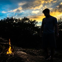 Another sunset shot from this weekend's... (thatbenhaller) Tags: park camping sunset silhouette fire bearmountain harriman globalhotshots allshots vsco dreamsunset latergram uploaded:by=flickstagram rsanature instagram:photo=789791138175190442571993008 retropman