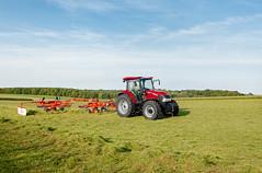 Case IH Farmall A 95 (Case IH Europe) Tags: blue sky tractor field grass landscape outdoor farming machine case vehicle hay agriculture 95 farmall raking rakes a caseih