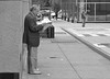 Man with Pipe and Paper (Charlie O'Hay) Tags: street bw philadelphia centercity candid philly pipesmoker