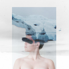 self (Annasara Bjaaland) Tags: portrait selfportrait snow ice collage photoshop self naked iceland blind skin doubleexposure double thoughts mind montage selfie