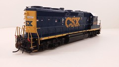 CSX - MOTHER (Road Slug Power Unit) #6457 Dark Future Paint Scheme (Prototype Painted around April 2010) - GP40-2 (Engineers Rear 3-4) - HO Scale - Atlas - July 29, 2015 - K. Crawley (dcmkris) Tags: atlas csx hoscale gp402 custompainted darkfuture roadslug mothermate