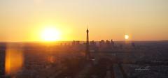 52nd floor (Untuvikko) Tags: sunset paris eiffeltower