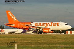 easyJet G-EZIW Airbus A319 Linata Fiumicino Livery Departing Stansted Airport August 2015 (bananamanuk79) Tags: london airplane flying airport aircraft planes airbus stansted stanstead easyjet stn planespotting spotter geziw stnairport
