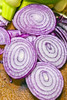 Red Onion on Cutting Board (DigiPub) Tags: 赤 玉ねぎ 112341763 cuttingboard spanishonion woodmaterial vegetable closeup japan slice indoors domestickitchen circle nopeople photography vertical