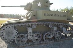 Cordele 98 - Georgia Veterans State Park (RNRobert) Tags: cordele crispcounty generalstuart georgia georgiastateveteranspark honey lighttank m3a1 missstatenisland afv armoredfightingvehicle