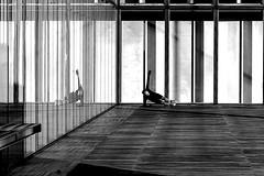 At the corner (pascalcolin1) Tags: paris13 bnf coin corner reflet reflection homme man sport sportif photoderue streetview urbanarte noiretblanc blackandwhite photopascalcolin sportman fenetres windows