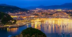 San Sebastian (PokemonaDeChroma) Tags: donostia 2016 sansebastian spain bluehour city