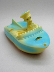 Combex Motor Boat (The Moog Image Dump) Tags: vintage boat motor cute kawaii combex creations squeaker bath toy figure