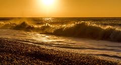 Sunrise with crashing waves (Anthony White) Tags: bournemouth england unitedkingdom gb sunrise waves dorset orange crashingwaves beach natur nature pebbles