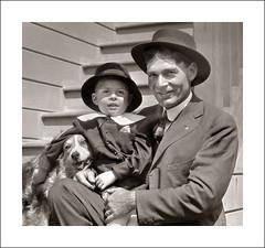 Portrait 001-42 (Steve Given) Tags: portrait family vintage group pet dog