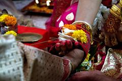 Embrace (Sajeeb75) Tags: indoor flower wedding red pink bride happy beauty nikon dhaka bangladesh