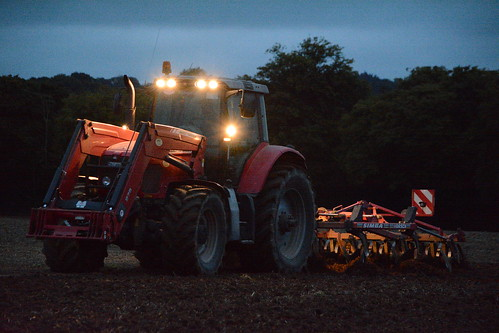 Massey Ferguson 6499 Dyna-6 Tractor with a Simba Horsch Terrano 4 FX Cultivator