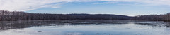 Holbrook Pond, Hebron, CT (billandkent) Tags: billcannon connecticut hebron hebronconnecticut holbrookpond us usa unitedstates billandkent 2016 pond ice panorama