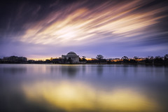 mental attitude (kenjiedwards) Tags: washingtondc tidalbasin jeffersonmonument longexposure sunrise dawn bluehour neutraldensity leefilters bigstopper tranquil couds outdoors thomasjefferson freedom districtofcolumbia diviededcongress taxataionwithoutrepresentation stopthemadness luminosity softlight sliderssunday
