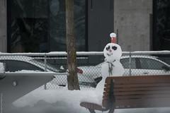 Snowman (FreeManFreeWorld) Tags: snowman bonhommedeneige neige snow montreal freemanfreeworld outdoor d5300 nikon focus