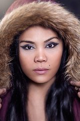 Hoodie (Torgeir Eikrem) Tags: winter portrait fashion sexy girl model smokey eyes makeup hair sheena sweet hoodie