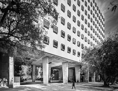 Bunche Hall (Chimay Bleue) Tags: ucla design architecture black white bw modernism modernist architectural midcentury concrete maynard lyndon
