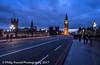 Westminster Bridge (Philip Pound Photography) Tags: bigben big ben lonodon westminster parliament bridge night traffic light trails thames clock towere road pavement