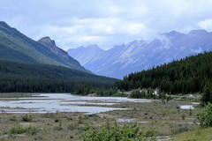Bend in the River (Patricia Henschen) Tags: canada northern rockies canadian glaciers glacier icefieldsparkway alberta icefield mountain mountains river athabasca clouds endlesschain