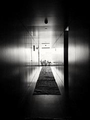 6th floor (unegziste) Tags: blackwhite floor perspectiv light tunel hotel belgrade cross space center