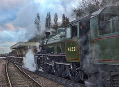 Great Central Railway Leicester Leicestershire 8th January 2017 (loose_grip_99) Tags: greatcentral railway railroad rail loughborough leicestershire england eastmidlands steam engine locomotive train gassteam preservation transportation trains railways ivatt lms 2mt 260 46521 leicester station january 2017