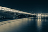 Blackfriars Bridge (Spannarama) Tags: night dark evening bridge arch river water reflections lights longexposure blackfriarsbridge blackfriars thames london uk nightphotography splittone blue