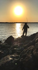 (Potent2020) Tags: ray me beach fisherman fishing man rocks sea sunrise sun morning