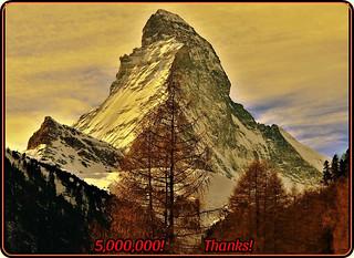 Matterhorn-an iconic emblem of the Swiss Alps - 5,000,000!