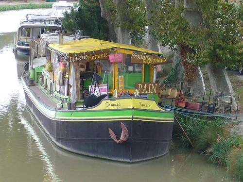 Epicerie flottante à Le Somail, Canal du Midi