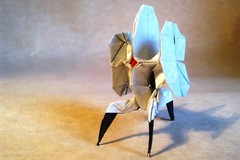 23 More Excellent Origami Models from Video Games (Origami.me) Tags: origami papercraft paper craft diy fold folding video games portal turret