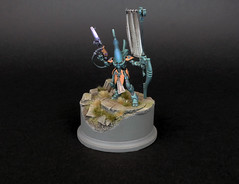 Eldar Wraithguard of craftworld Inallian (THE_ARCH1TECT) Tags: conversion banner gems base eldar wraith wraithguard craftworld dscythe inallian