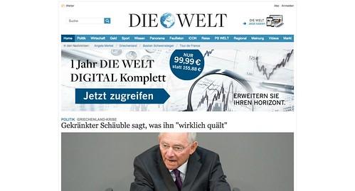 """""""Die Welt"""" mit Werbung"""