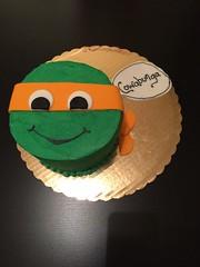 Teenage Mutant Ninja Turtle Cake by Brittany, Pittsburgh, PA, www.birthdaycakes4free.com