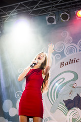 Rta (Jonas opa) Tags: red girl lights concert dress emotion stage smoke singer