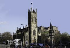 St James' Corner (Lawrence OP) Tags: castle edinburgh churches stjames stcuthberts